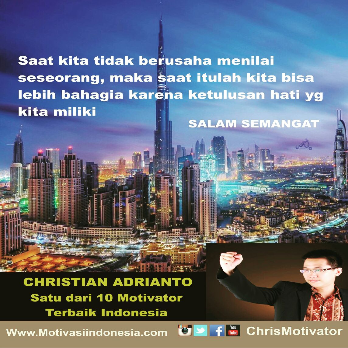 Christian Adrianto Motivator Kata Bijak Quote Of The Day Kata