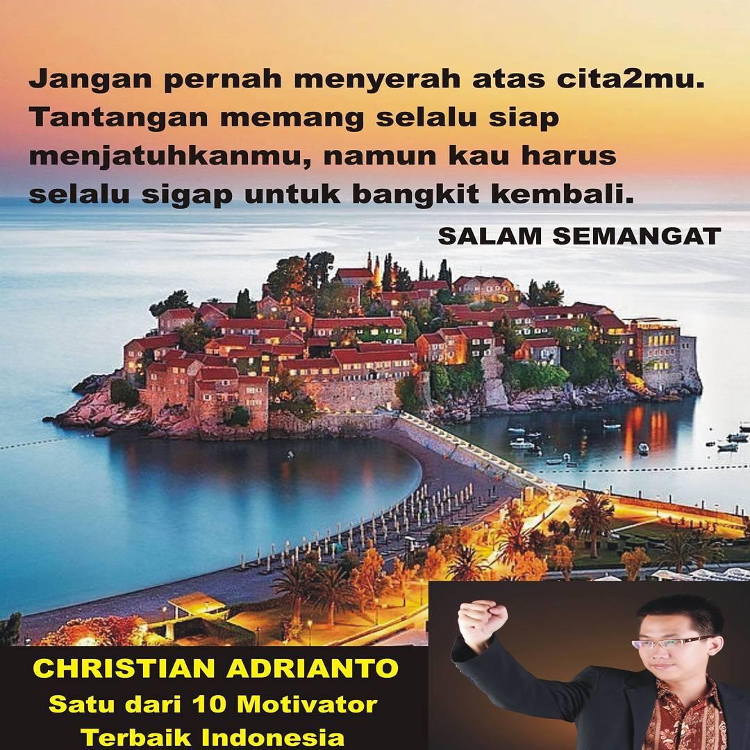 Christian ADrianto Motivator, Motivator top Indonesia seperti Mario Teguh, Merry Riana, Andrie Wongso, Bong Chandra