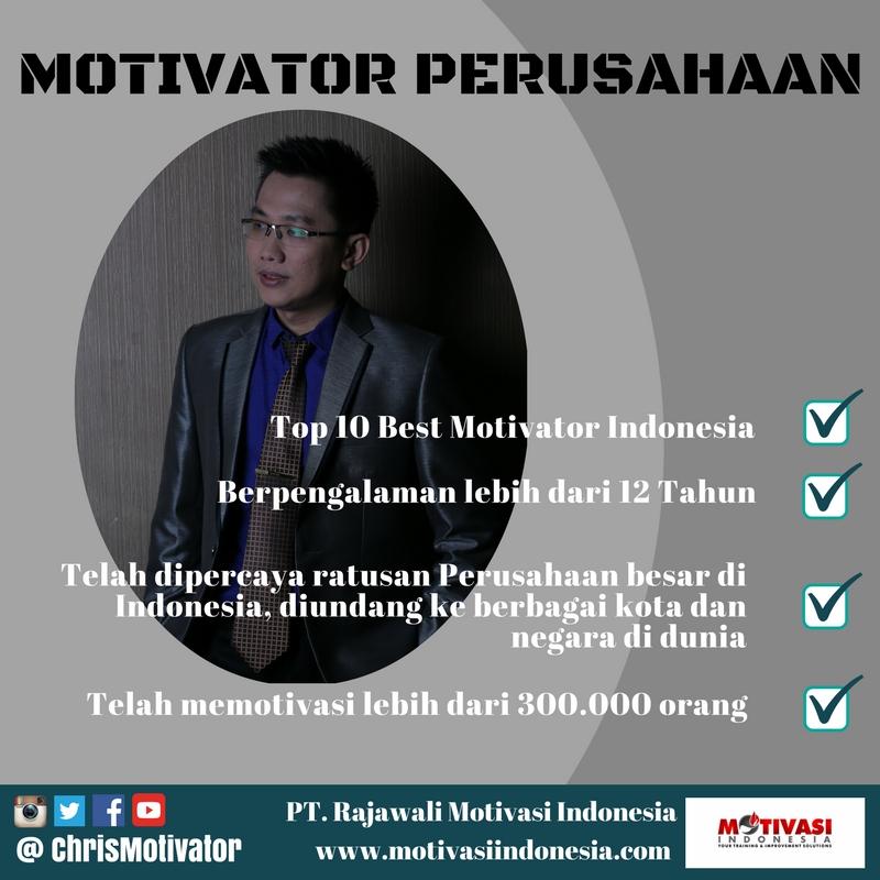 Motivator Perusahaan - Christian Adrianto - Training Motivasi untuk Karyawan Perusaahan Anda