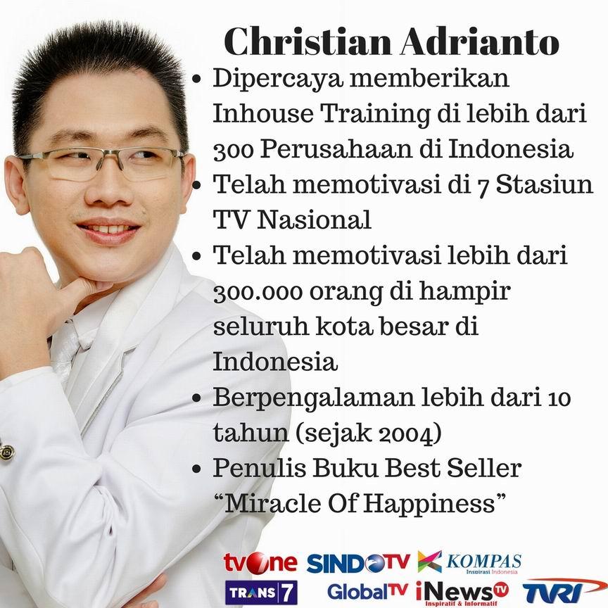 Motivator Terbaik Indonesia Christian Adrianto
