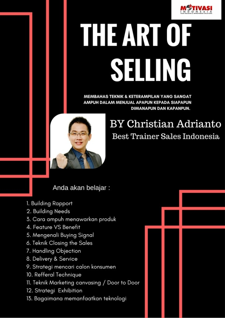 TRAINER SALES TERBAIK INDONESAI -Christian Adrianto