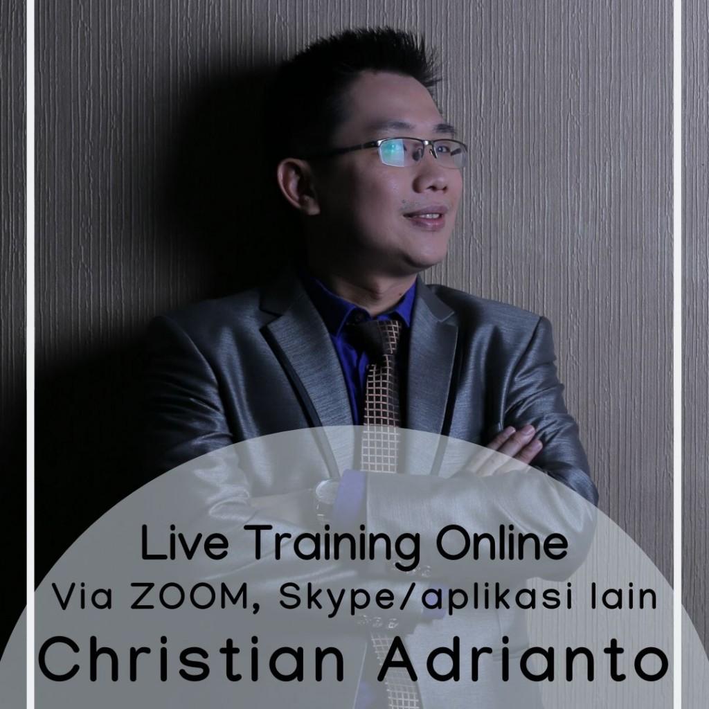 seminar online atau webminar christian adrianto
