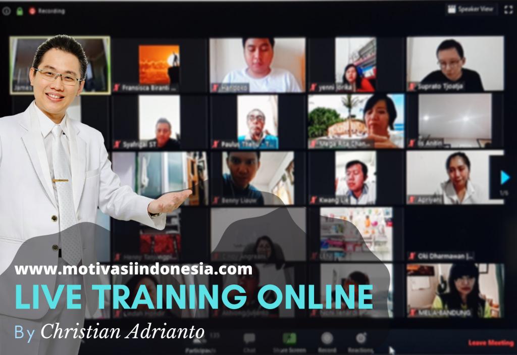 Training Online via Zoom Christian Adrianto Motivator
