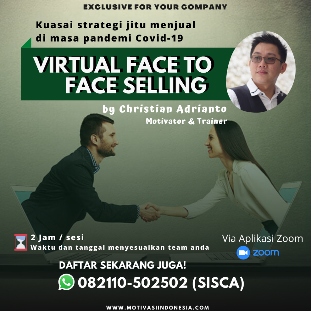 TRAINING VIRTUAL FACE TO FACE SELLING