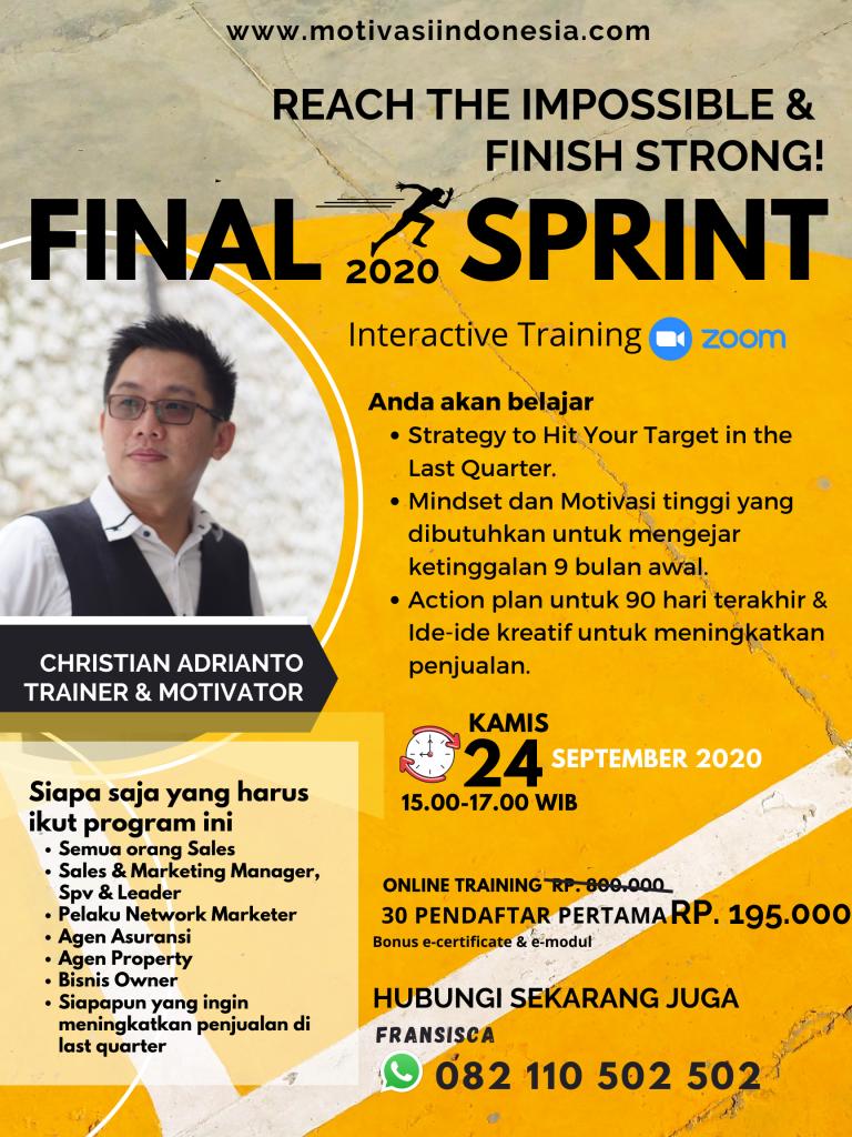 Final Sprint 2020