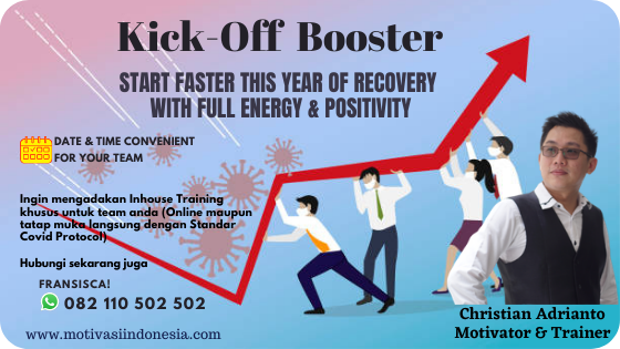 KICK-OFF BOOSTER : START FASTER THIS YEAR OF RECOVERY  WITH FULL ENERGY & POSITIVITY